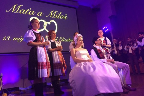 svadobný pár - slovanská tradícia - čepčenie