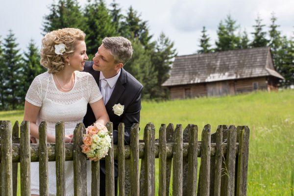 svadobný pár v skanzene