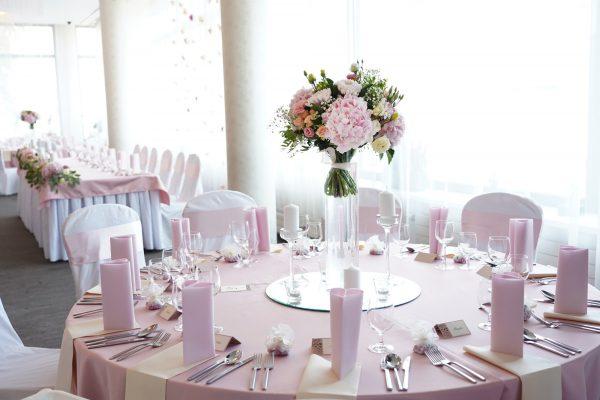 Hotel Turiec**** - Svadobná hostina - detail na svadobný stôl