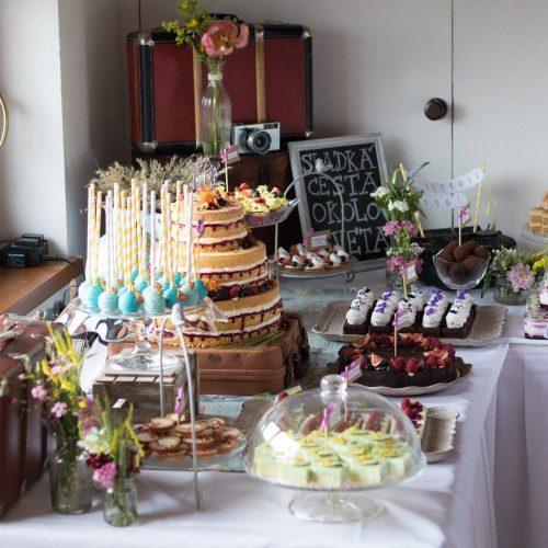 Svadobné koláče Sisters Cake - detail na svadobné koláče
