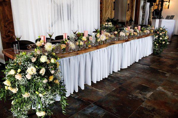 Penzión San Martin - Svadobná sála v Martine - Stôl ženícha a nevesty